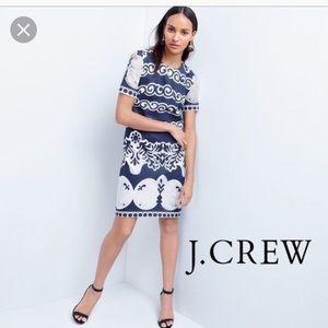 J Crew lace ornate slip dress
